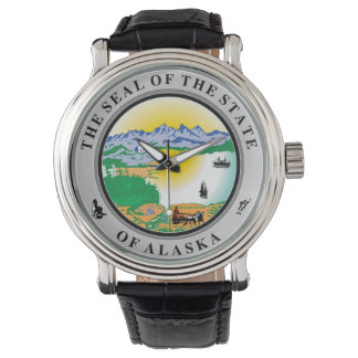 Alaska seal united states america flag symbol repu wristwatches