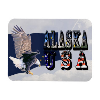 Alaska State Flag Bald Eagle Flexible Magnet