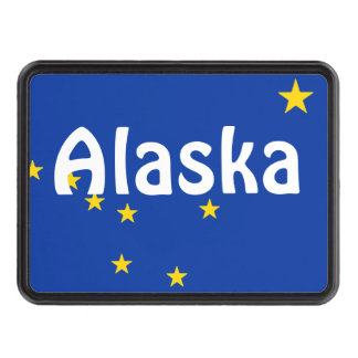 Alaska State Flag Trailer Hitch cover