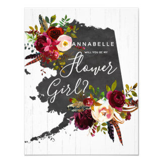 Alaska State Floral Will You Be My Flower Girl Card