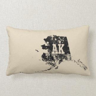 Alaska State Map Used Black Pillows