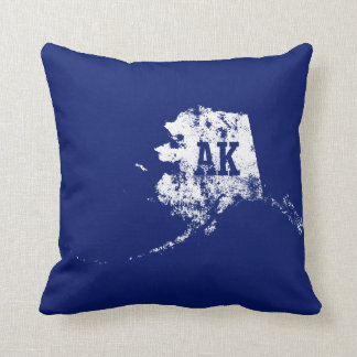Alaska State Map Used Pillows