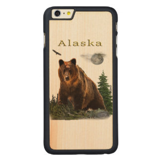 Alaska State merchandise Carved Maple iPhone 6 Plus Case