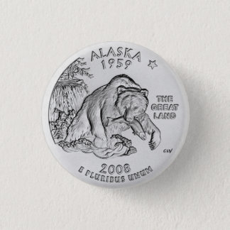 Alaska State Quarter Button