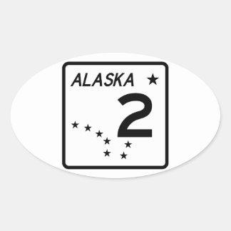 Alaska State Route 2 Oval Sticker