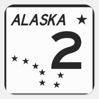 Alaska State Route 2 Square Sticker