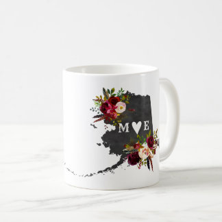 Alaska State Rustic Country Wedding Monogram Coffee Mug