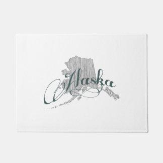 Alaska State Typography Doormat