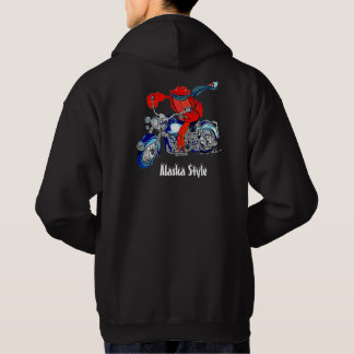 Alaska Style King Crab Motorcycle Colour Printed Hoodie