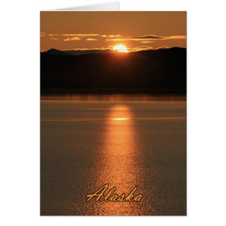 Alaska Sunset - Reflecting off Ocean Card