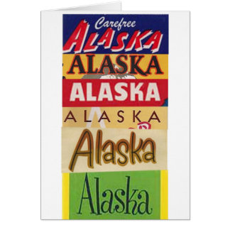 Alaska Travel Poster Thank you card