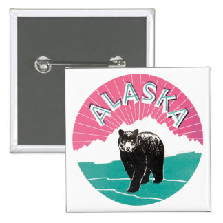 Alaska Vintage Pinback Buttons