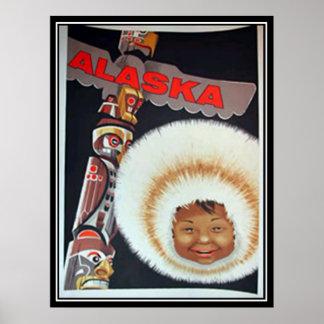 Alaska Vintage Print