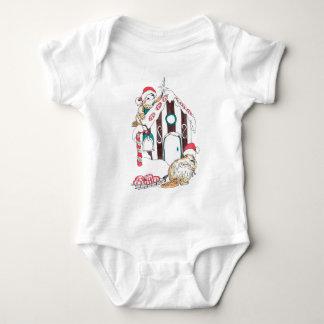 Alaska Whimsical Christmas Wildlife Baby Bodysuit