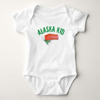 ALASKA Wild Alaskan Salmon Fish Filet Seafood Food Baby Bodysuit