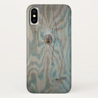 Alaska wooden light pole iPhone x case