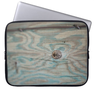 Alaska wooden light pole laptop sleeve