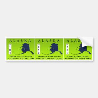 Alaska Zombie Hunting Permit Bumper Stickers