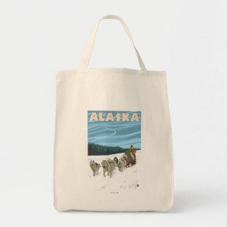 AlaskaDogsledding Vintage Travel Poster Tote Bag