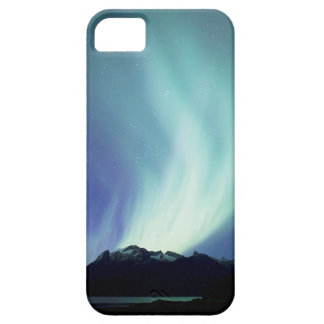 Alaskan aurora borealis lights in the night sky iPhone 5 case