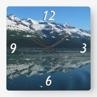 Alaskan Coastline Beautiful Nature Photography Square Wall Clock