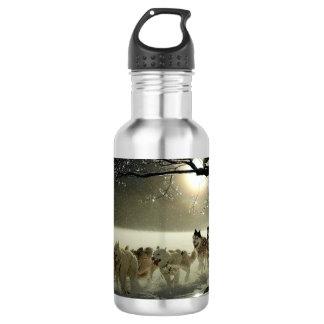 Alaskan Husky Dog Sled Race 532 Ml Water Bottle