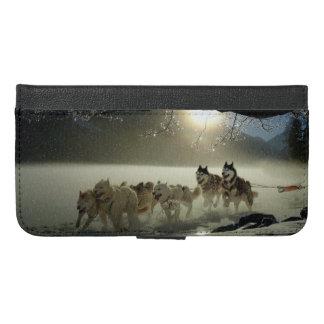 Alaskan Husky Dog Sled Race iPhone 6/6s Plus Wallet Case