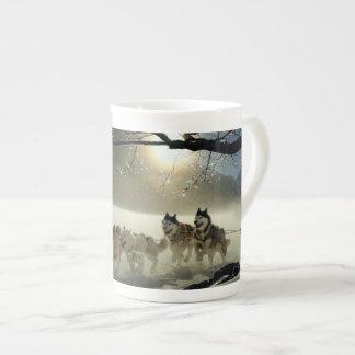 Alaskan Husky Dog Sled Race Tea Cup