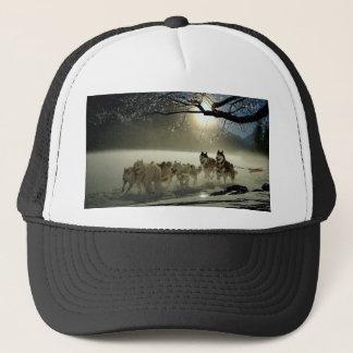 Alaskan Husky Dog Sled Race Trucker Hat