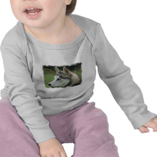 Alaskan Husky Infant T-shirts