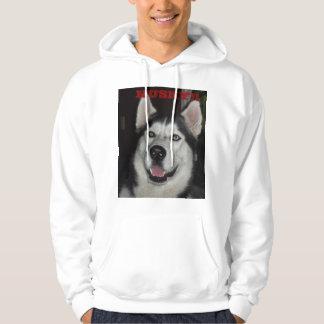 Alaskan Husky Men's Basic Hooded Sweatshirt
