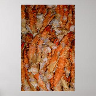 Alaskan King Crab Legs Poster