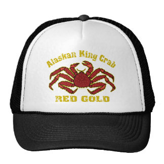 ALASKAN KING CRAB RED GOLD MESH HATS