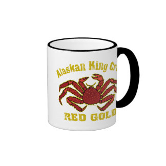 ALASKAN KING CRAB RED GOLD MUGS