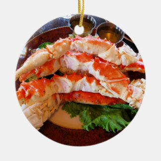 Alaskan King Crabs Ceramic Ornament