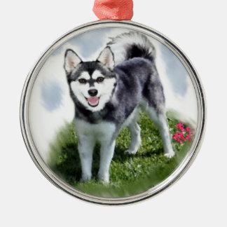 Alaskan Klee Kai Art Metal Ornament