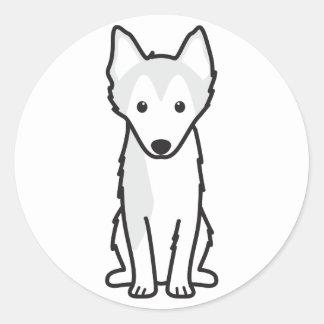Alaskan Klee Kai Dog Cartoon Classic Round Sticker
