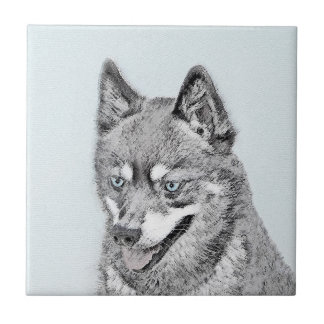 Alaskan Klee Kai Painting - Cute Original Dog Art Ceramic Tile