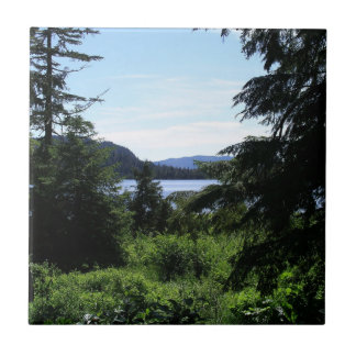 Alaskan Landscape Outdoors Nature Photography Small Square Tile