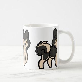 alaskan malamute agouti cartoon coffee mug