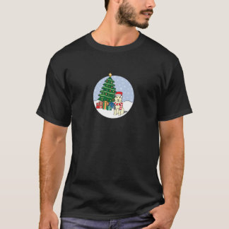 Alaskan Malamute and Christmas Tree T-Shirt