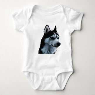 Alaskan Malamute Artwork Baby Bodysuit