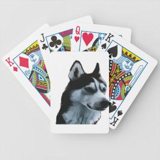 Alaskan Malamute Artwork Bicycle Playing Cards