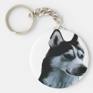 Alaskan Malamute Artwork Key Ring