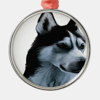Alaskan Malamute Artwork Metal Ornament