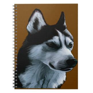 Alaskan Malamute Artwork Notebooks
