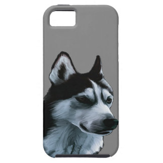 Alaskan Malamute Artwork Tough iPhone 5 Case