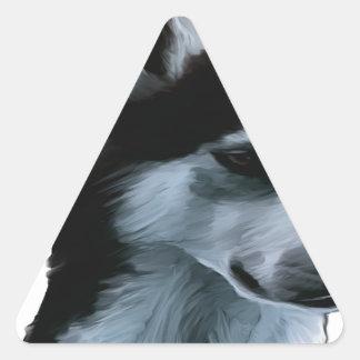 Alaskan Malamute Artwork Triangle Sticker