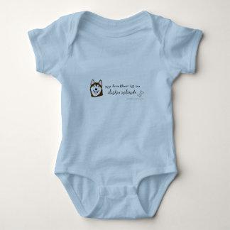 alaskan malamute baby bodysuit