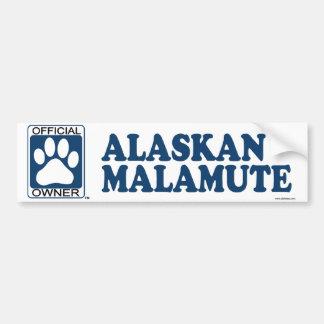 Alaskan Malamute Blue Bumper Sticker